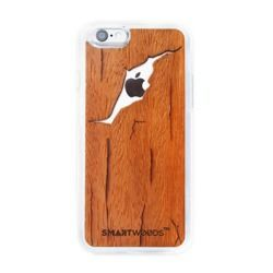 CASE WOODEN SMARTWOODS CRACKED BROWN IPHONE 5 5S SE