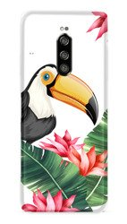 CaseGadget CASE OVERPRINT TOUCAN AND LEAVES SONY XPERIA 1