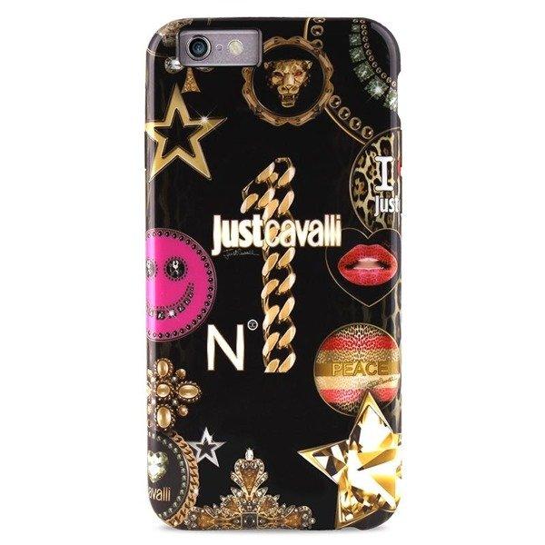fa4ca705bb6c8 Just Cavalli LEO CASE STAR COVER IPHONE 6 / 6S BLACK - monstelo