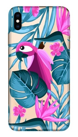 CaseGadget CASE OVERPRINT PARROT AND FLOWERS IPHONE XS MAX