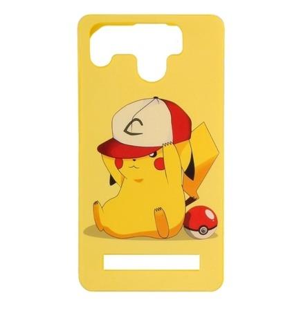 "SILICON CASE UNIVERSAL 4.5-4.9"" Pikachu"