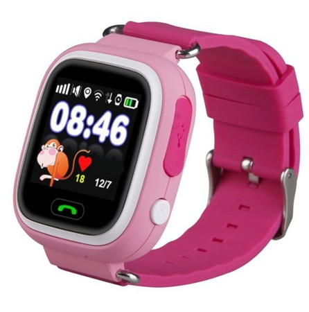 SMART WATCH FOR CHILDREN GPS FOR PARENTS Q90 PINK