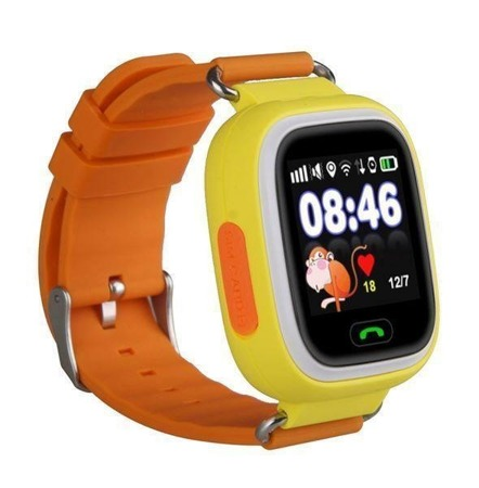 SMART WATCH FOR CHILDREN GPS FOR PARENTS Q90 YELLOW
