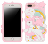 CASE 3D UNICORN AND CHILDREN PINK IPHONE X / XS IPHONE