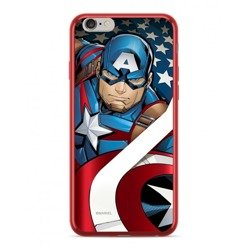 CASE ETUI CHROME MARVEL KAPITAN AMERYKA 004 IPHONE XS MAX CZERWONY