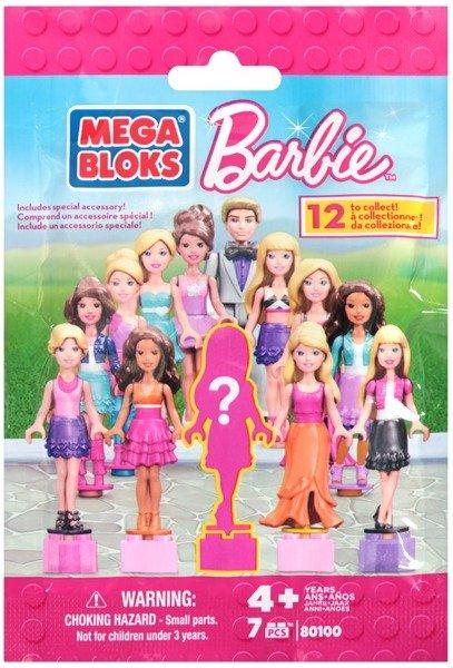 MEGA BLOKS BARBIE 80100 12 TO COLLECT MINI FIGURES