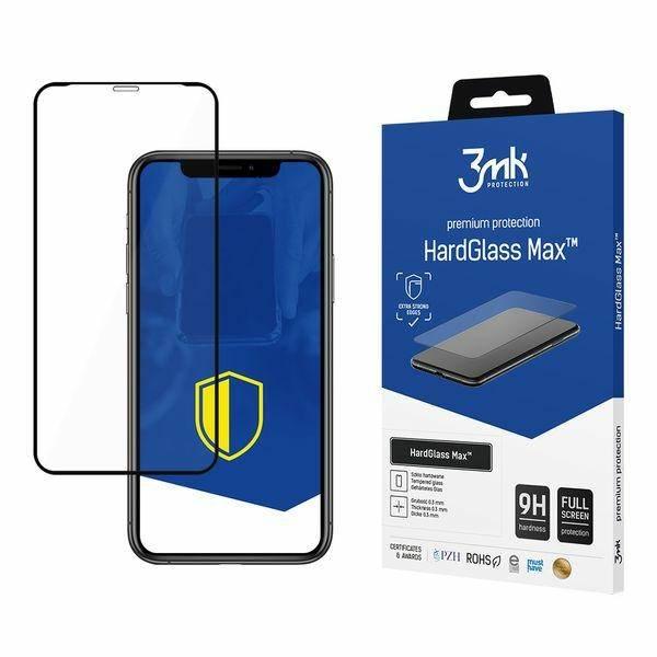 3MK HARD GLASS MAX IPHONE XS / IPHONE X CZARNE