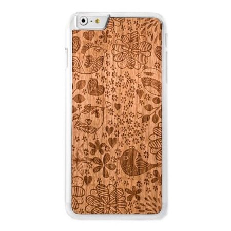 CASE ETUI DREWNIANE SMARTWOODS BIRDS CLEAR IPHONE 6 / 6S